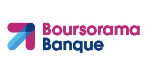 Boursorama banque Logo. la banque en ligne avec vous.