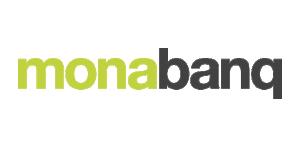 Monabanq Logo De loin la banque la plus proche.